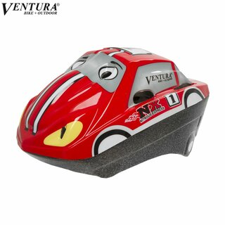 Ventura Fahrrad-Kinder-Helm Racing Car, Gr. 52-56