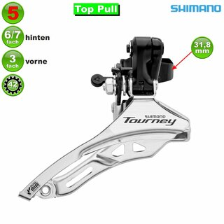 Shimano Tourney FDTY300 6/7-fach Top Pull 31,8 mm